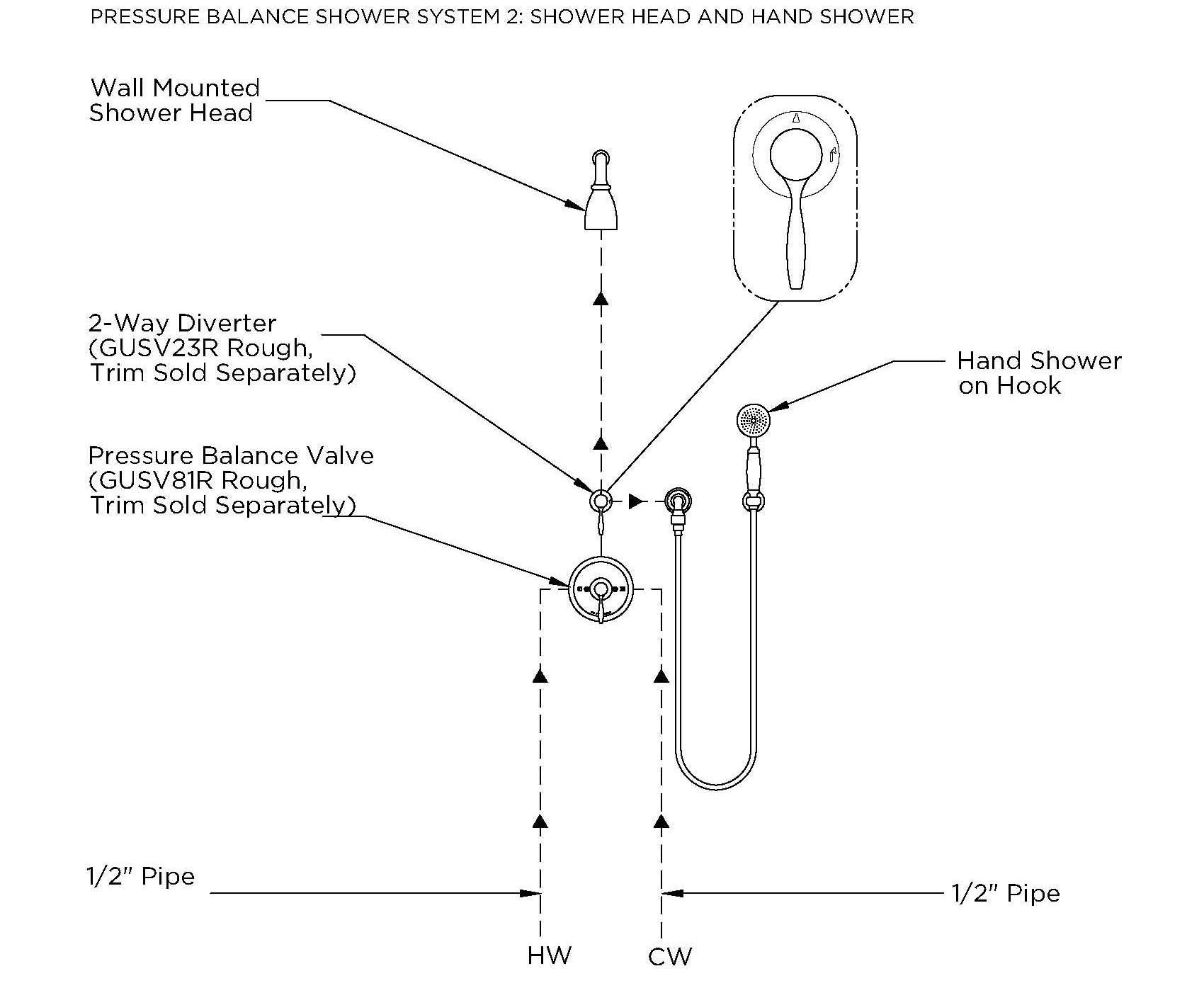 Multi Head Shower Plumbing Diagram Pictures To Pin On