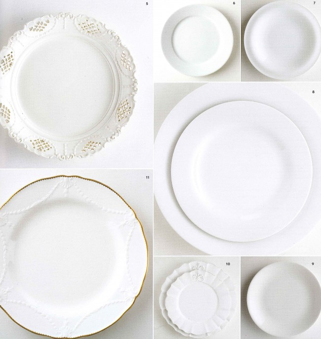 Classic white dishes are faultlessly appropriate and always elegant. The white surface allows the food to be the star.  Hostesses like the versatility of  white dishes because they can be dressed up or down.