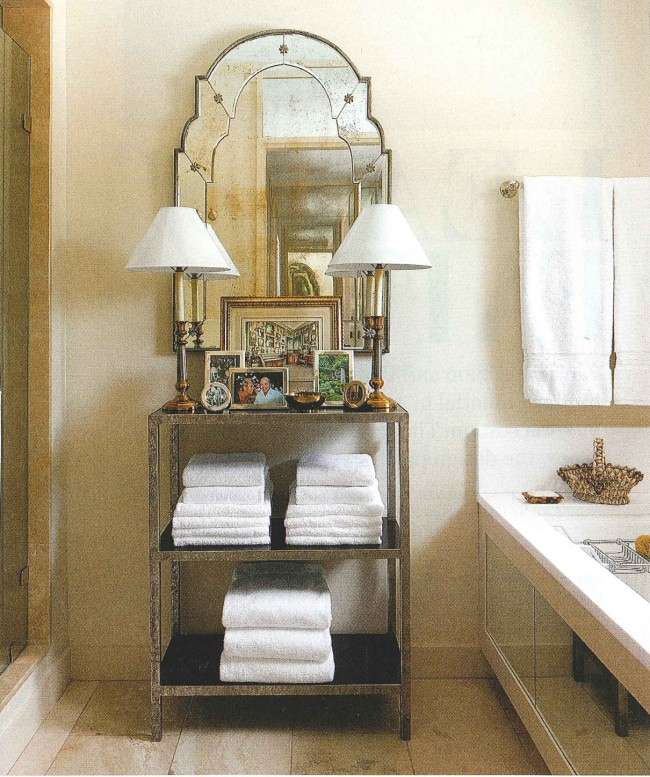Styled Shelving in the Bath_Arch Digest_3.9.12