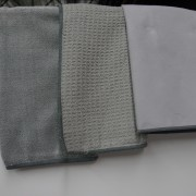 Three textures of soft Elements cleaning cloths should be part of your cleaning ritual for your fitting. Wiping them down after every use will stop hard water from damaging the finish.