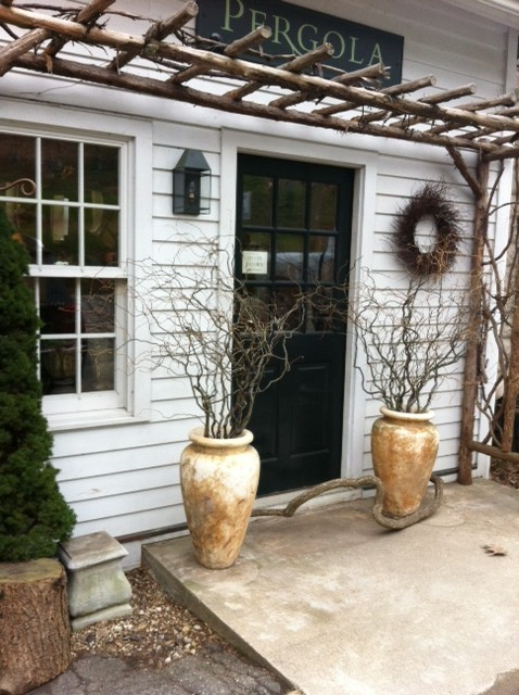 The charming entry to the PERGOLA in New Preston, CT.