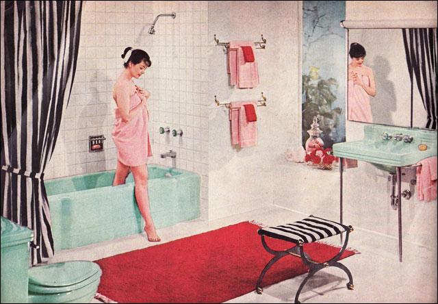 Ванна в стиле ретро фото