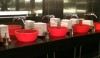 The W Hotel in Atlanta. Clearly, this public space was important to the designers. The red sinks are fun and memorable.