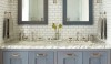 A medium toned grout is a good partner with the tone of the cabinet.