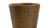 Baskets always make good waste bins.  There are many different weaves and colors that make them useful and practical.