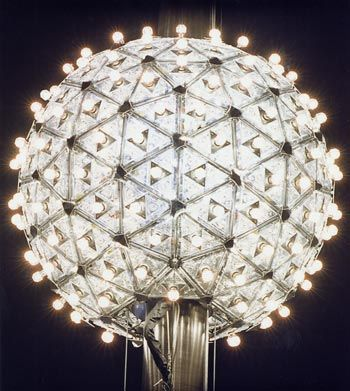 The great ball in Times Square clad in thousands of Waterford crystals. Sparkling, indeed..