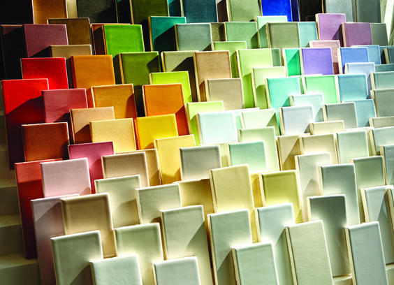 Our Architectonics ceramic tile with its palette of 123 colors.