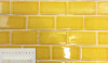 Cheerful summer yellow tiles with a terrazzo floor is a good pairing for a pool house.  Cheerful and fresh.
