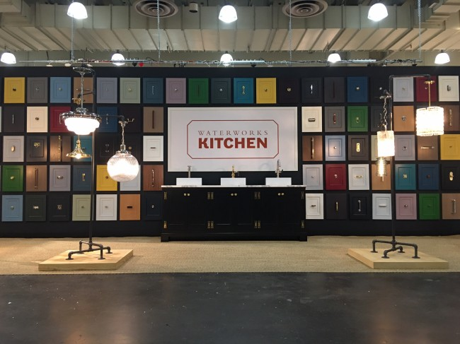 Our first ICFF booth. We featured doors from our Belden kitchen in the whole palette each shown with our newest hardware.