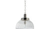 Aurora large scale pendant with a ribbed glass round shade. Love the scale.