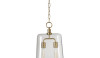 Double Arundel pendant with cowbell shaped bubble glass shade.  Simple but elegant.